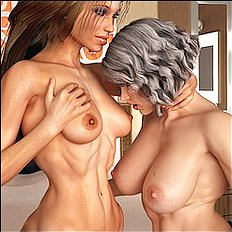Best 3d, big tits, lesbian hentai pictures