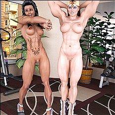 Hottest 3d, big tits, lesbian hentai images