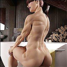 Horny 3d, big tits hentai set