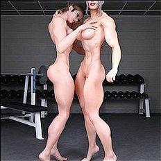 Exotic 3d, big tits, lesbian hentai images
